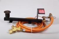Gasbrennerset 1-Flammig 18kW  Mit Druckminderer mit SBS 1,5Bar/4kg und Schlauch 2,5m