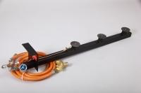 Powergasbrennerset 3-Flammig 37,9kW bei 1.5Bar  Mit Druckminderer mit SBS 1,5Bar/4kg und Schlauch 2,5m