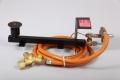 Gasbrennerset 1-Flammig 14kW  Mit Druckminderer mit SBS 1,5Bar/4kg und Schlauch 2,5m