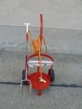 Gasflaschenwagenset mit Doppelbrenner 2x40 Haube